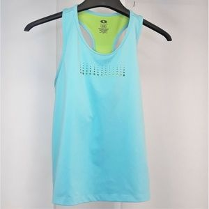 Athletic Works Racer Back Tank Womens Size XL Blue